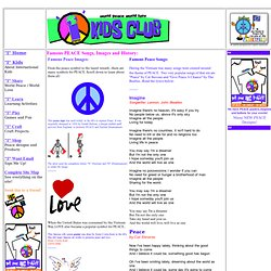 famous peace songs peace art peace history peace symbols and signs