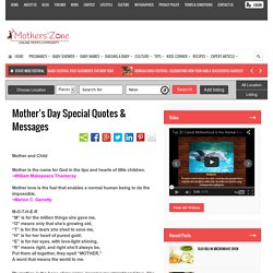 Famous Quotations and Messages on Mother's Day 2015