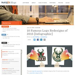 10 Famous Logo Redesigns of 2015 [Infographic]