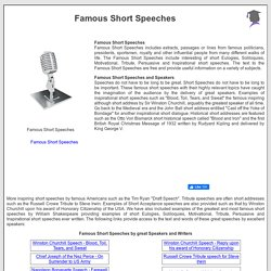 Famous Short Speeches