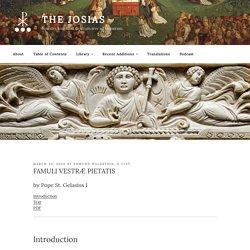 FAMULI VESTRÆ PIETATIS – The Josias
