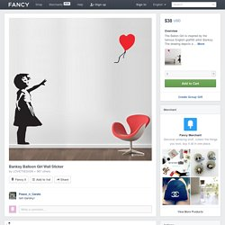 (8) Fancy - Banksy Balloon Girl Wall Sticker