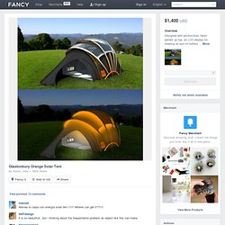 Fancy - Glastonbury Orange Solar Tent