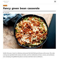 Fancy green bean casserole