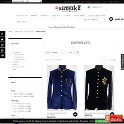 Deck up in your ultimate traditional mode with the dazzling collection of jodhpuri suites, jodhpuri coats,jodhpuri dress and fancy suits with delicate handicraft work. Shop now for the exclusive range at samyakk online.