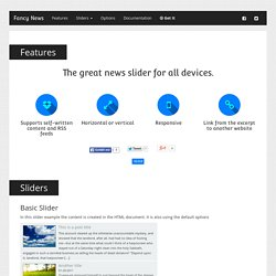 Fancy News - jQuery plugin Preview