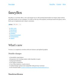 fancyBox - Fancy jQuery Lightbox Alternative