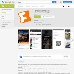 Fandango Movies for Phones - Android Apps on Google Play