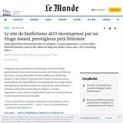 Le site de fanfictions AO3 récompensé par un Hugo Award, prestigieux prix littéraire