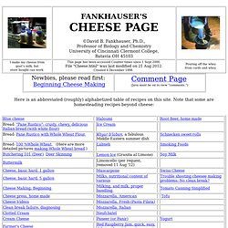 Fankhauser's Cheese Page