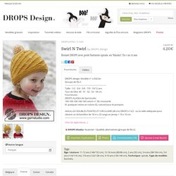 "Swirl N Twirl - Bonnet DROPS avec point fantaisie spirale, en ""Alaska"". Du 1 au 12 ans - Free pattern by DROPS Design"