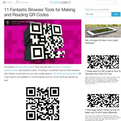 11 Fantastic Browser Tools for Making and Reading QR Codes