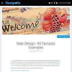 Web Design: 40 Fantastic Examples