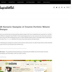 26 Fantastic Examples of Creative Portfolio Website Designs