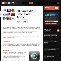 50 Fantastic Free iPad Apps
