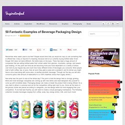 50 Fantastic Examples of Beverage Packaging Design