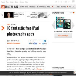 10 fantastic free iPad photography apps