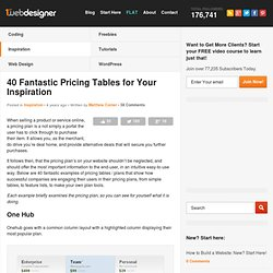 40 Fantastic Pricing Tables for Your Inspiration