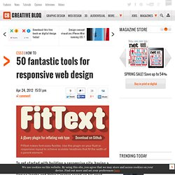 50 fantastic tools for responsive web design