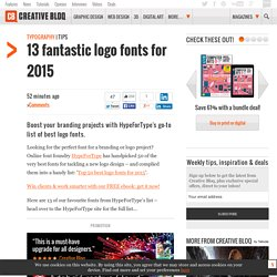13 fantastic logo fonts for 2015