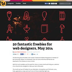 50 fantastic freebies for web designers, May 2014