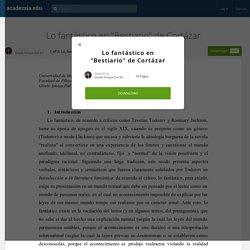 """Lo fantástico en """"Bestiario"""" de Cortázar"""