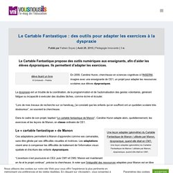 Le Cartable Fantastique : des outils pour adapter les exercices à la dyspraxie