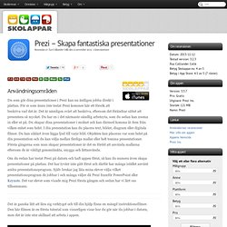 Recension av Prezi - Skapa fantastiska presentationer
