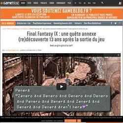 Final Fantasy IX : une quête annexe (re)découverte 13 ans après la sortie du jeu