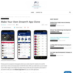Make Your Own Dream11 App Clone