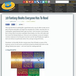 10 Fantasy Books Everyone Has To Read - o5 Recipes for Life
