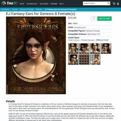 EJ Fantasy Ears for Genesis 8 Female(s)