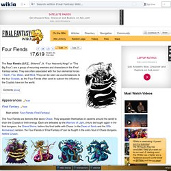 Four Fiends - The Final Fantasy Wiki - 10 years of having more Final Fantasy information than Cid could research!