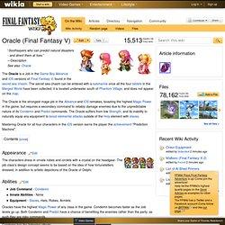 Oracle (Final Fantasy V)
