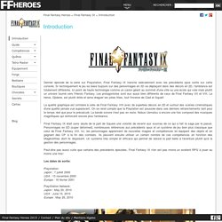 Final Fantasy IX : Introduction - Final Fantasy Heroes