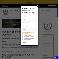 Fantasy Sports Merchant Account For High Risk Business - 5 Star
