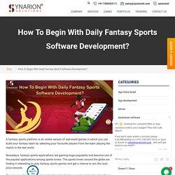 Get Fantasy Sports Software Solution