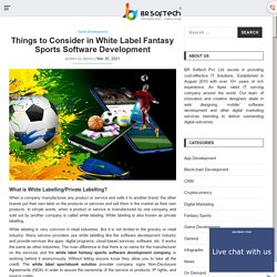 White Label Fantasy Sports Software Development