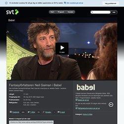 Fantasyförfattaren Neil Gaiman i Babel