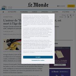 """L'auteur de """"Fantômette"""", Georges Chaulet, est mort à l'âge de 81 ans"""