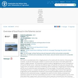 FAO - 2018 - Overview of food fraud in the fisheries sector