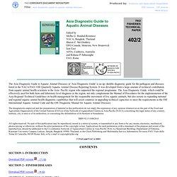 2001 - Asia Diagnostic Guide to Aquatic Animal Diseases