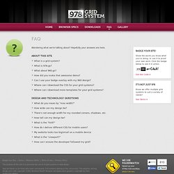 FAQ- 978 Grid System for Web Design