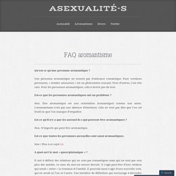 FAQ aromantisme