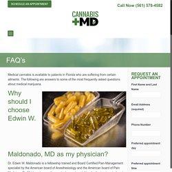 FAQ's - CANNABIS+ MD