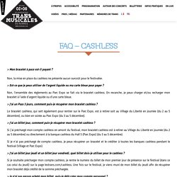 FAQ – CASHLESS