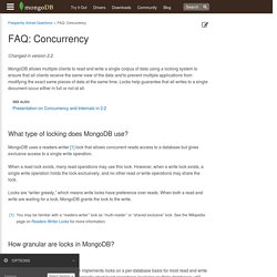 FAQ: Concurrency — MongoDB Manual 2.6.7