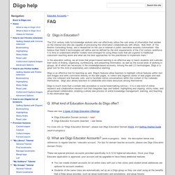 FAQ Diigo in Education-Teacher and Student Accounts
