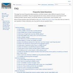 FAQ - DMARC Wiki