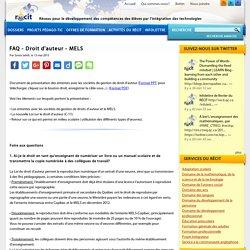 FAQ - Droit d'auteur - MELS